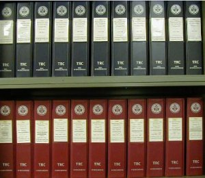 Rows of TRC binders now part of the NIST/TRC WTT